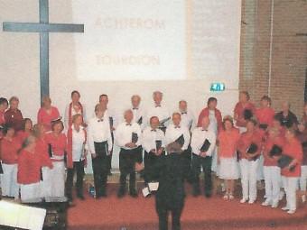 Optreden Achterom samen met het koor Tourdion